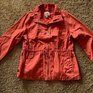 NWT Old Navy Coral Cotton Jacket